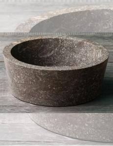 Natural Stone 40 Grey Kecil Раковина-чаша круглая из серого мрамора
