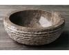Natural Stone 40 Grey Круглая накладная раковина из натурального серого мрамора