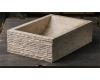 Natural Stone 50х35 Прямоугольная раковина с колотым краем из кремового мрамора