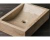 Natural Stone 50х35х12 Прямоугольная накладная раковина из кремового мрамора