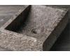Natural Stone 50х35 Прямоугольная раковина с колотым краем из серого мрамора