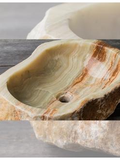 Раковина-чаша Natural Stone Erozy Multi из натурального оникса