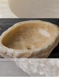 Natural Stone Erozy Sulawesi Накладная раковина-чаша из оникса