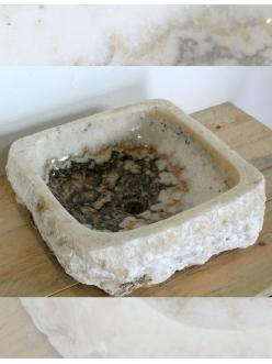Natural Stone Ubud 44 см – Квадратная раковина-чаша из натурального оникса