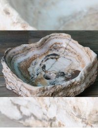 Natural Stone Ubud Накладная раковина-чаша из оникса