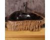 Раковина-чаша Natural Stone Dark Core B из натурального окаменелого дерева