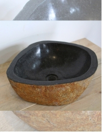 Natural Stone Мегалит №2 Накладная раковина из натурального камня