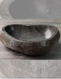 Natural Stone Halus Накладная раковина из натурального серого камня River Stone