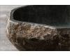 Раковина серая Natural Stone Rivery 40 из натурального речного камня River Stone