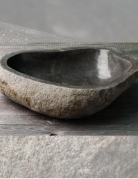 Natural Stone Rivery 50 Накладная раковина из натурального серого камня River Stone