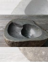 Natural Stone Turbillo 45 Накладная раковина из натурального серого камня