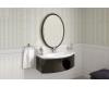 Овальное зеркало для ванной Ingenium Fusion 70 (Fus 700.15-01) в раме Чёрный глянец