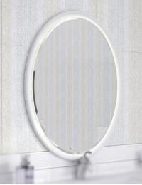 Ingenium Fusion 70 Зеркало для ванной с led подсветкой (Fus 700.15-01) Белый глянец