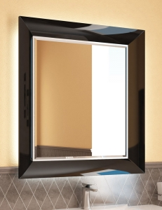 Ingenium Vogue 75 Зеркало с подсветкой в раме цвета чёрный глянец (Vog 750.12-01)