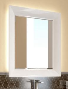 Ingenium Vogue 75 Зеркало с подсветкой в раме цвета белый глянец (Vog 750.12-01)
