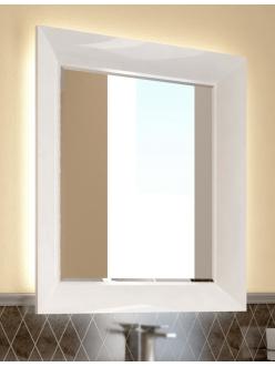 Зеркало Ingenium Vogue 75 (Vog 750.12-01) с фацетом в раме цвета Белый глянец