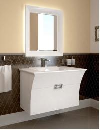 Ingenium Vogue 90 Комплект мебели для ванных Белый (Vog 900.02) - Влагостойкий