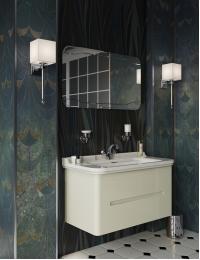 Kerasan Waldorf Тумба подвесная 2 ящика 100 см с раковиной, белая ваниль
