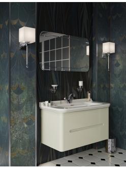 Kerasan Waldorf 9255 – Тумба подвесная 2 ящика 100 см с раковиной, белая ваниль