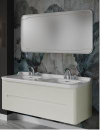 Kerasan Waldorf Тумба подвесная 4 ящика 150 см с раковиной, белая ваниль