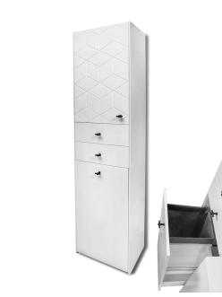 LOTOS Алисия 50 (арт. 119.БМ) – Напольная пенал, 1 дверца, 3 ящика с мешком для белья