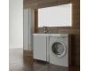 LOTOS 120 – Напольная мебель под стиральную машину с одной распашной дверью