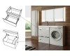 LOTOS 120 – Подвесная мебель под стиральную машину с одним выдвижным ящиком