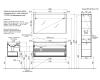 LOTOS 120 – Подвесной комплект мебели с одним выдвижным ящиком