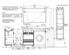 LOTOS 120 – Напольная мебель под стиральную машину с двумя выдвижными ящиками