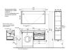 LOTOS 130 – Подвесной комплект под стиральную машину с 1м выдвижным ящиком