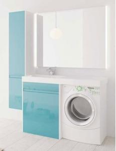 LOTOS 130 – Напольный комплект под стиральную машину с двумя выдвижными ящиками
