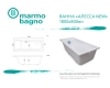 Marmo Bagno Алесса New 180х80 см – Ванна из литьевого мрамора, борт 5 см