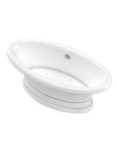 Marmo&Bagno Аззуро 180x90 Ванна из литьевого мрамора