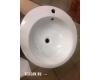 Раковина Melana 800-В133 (7001) – Напольный керамический умывальник, Ø 510 мм
