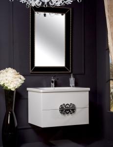 NeoArt Белый  80 керамическая раковина, зеркало Vogue, ручки Ajur