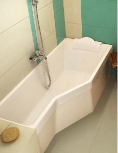 Ravak BeHappy ванна акриловая асимметричная 150x75 см