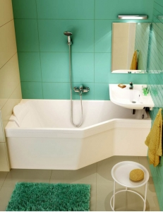 Ravak BeHappy ванна акриловая асимметричная 160x75 см