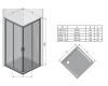 Ravak Blix BLRV2K-100 Квадратный душевой уголок с раздвижными дверями