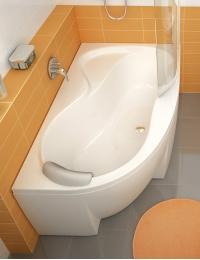 Ravak Rosa 95 ванна акриловая асимметричная 160x95 см