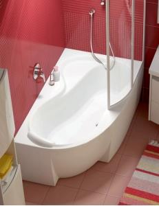 Ravak Rosa 95 ванна акриловая асимметричная 150x95 см