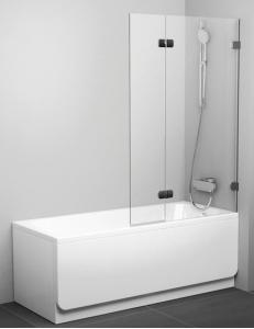 Ravak BVS2 100 шторка для ванны распашная двухэлементная + B-SET