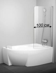 Ravak Rosa CVSK1 100 распашная одноэлементная шторка для ванны 160/170 см