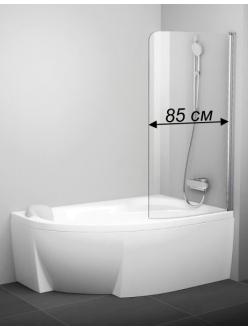 Ravak Rosa CVSK1 85 одноэлементная шторка для ванны на 140 или 150 см