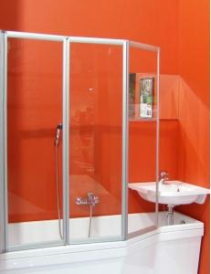 Ravak VS3 100 шторка для ванны складная трёхэлементная