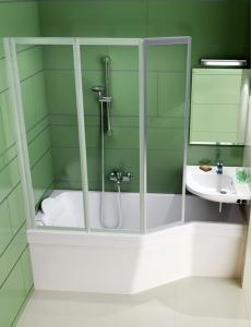 Ravak VS3 115 шторка для ванны складная трёхэлементная