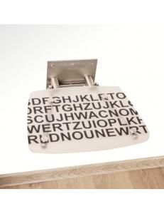 Ravak Ovo B Decor Text сиденье для душа складное прозрачное