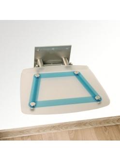 Ravak Ovo B Decor Blueline сиденье для душа складное прозрачное B8F0000031