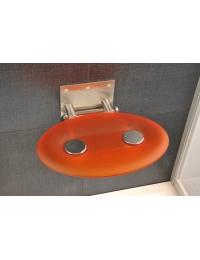 Ravak Ovo P Orange сиденье для душа складное полупрозрачное оранжевое
