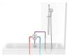 Ravak 10° TD 061.00 Встраиваемый смеситель для ванны/душа c переключателем