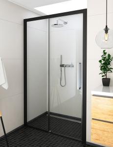 Roltechnik ECD2L – Раздвижная душевая дверь в проём, black elox, Алюминий, 6 мм